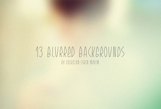 13 Blurred Backgrounds - Freebie by Georgian-Sorin Maxim