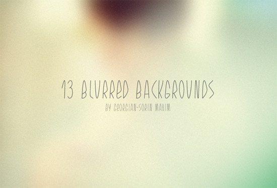 13 Blurred Backgrounds - Freebie by Georgian-Sorin Maxim