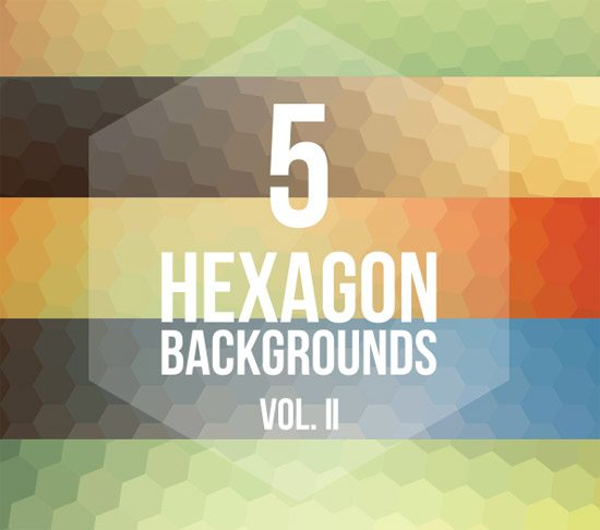 5 Hexagon Backgrounds Vol. II by Pedro Henrique Nascimento