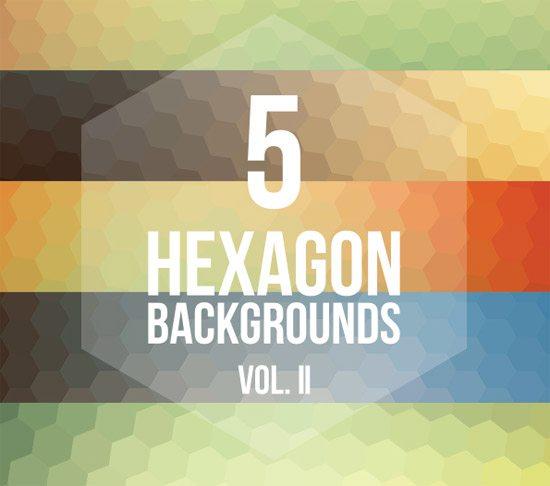 5 Hexagon Backgrounds Vol. II by Pedro Henrique Nascimento