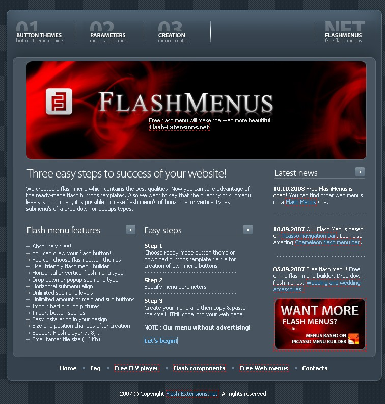Flashmenus
