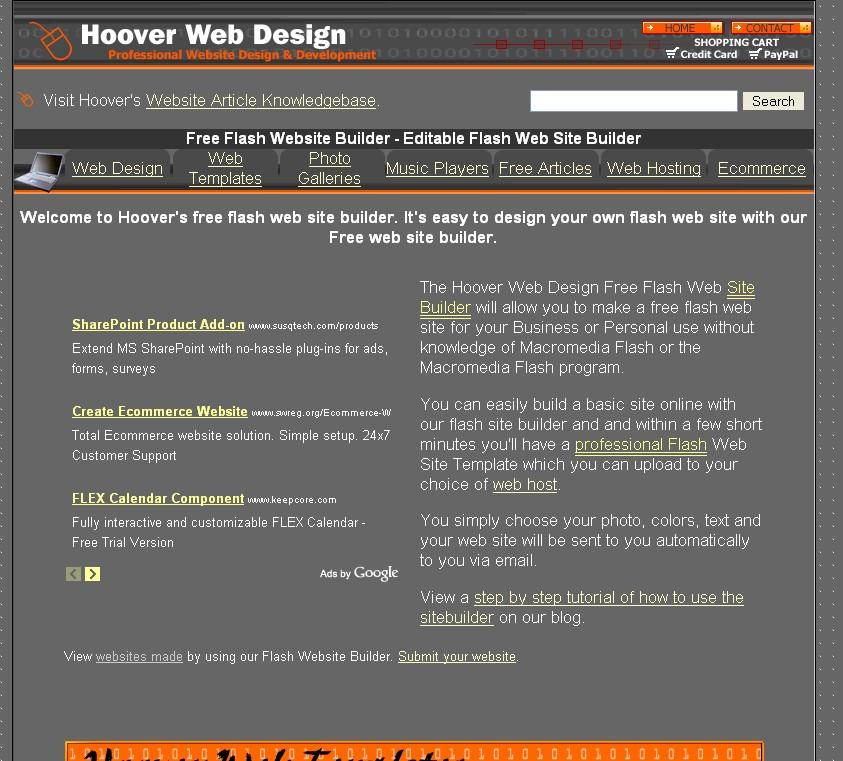 Hooverwebdesign