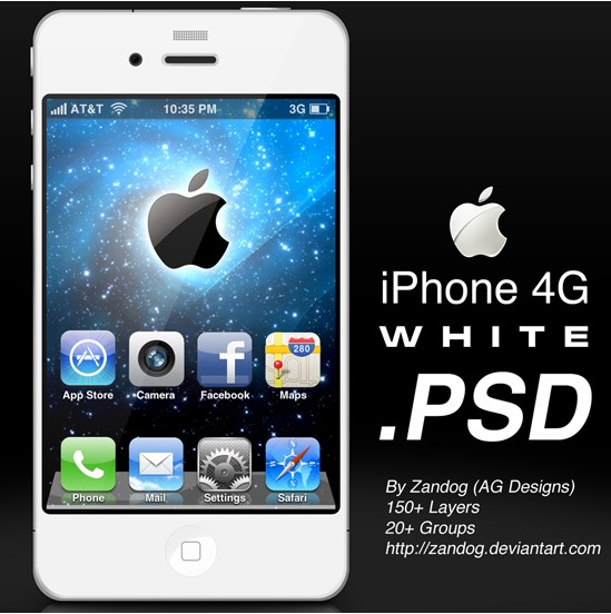 Apple iPhone 4G White