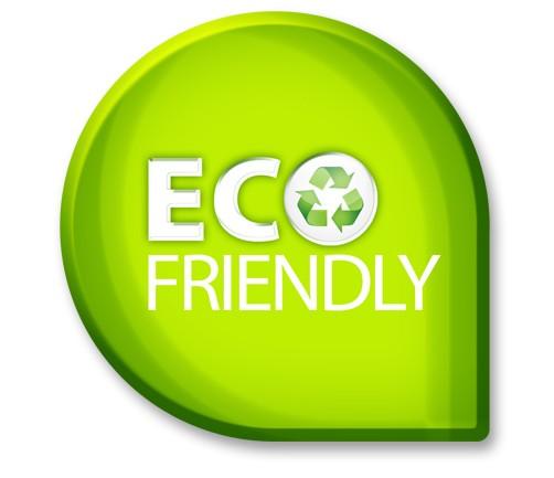 Eco friendly and zero emission sign