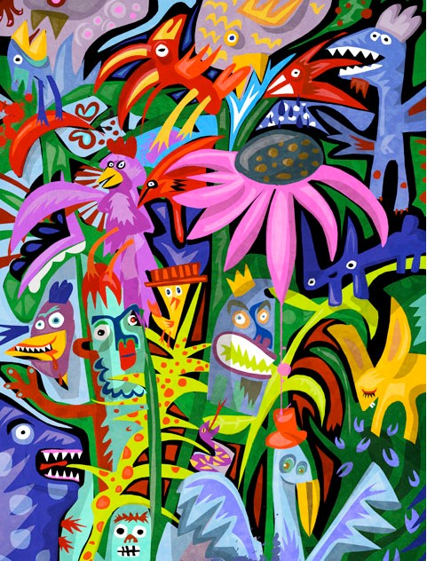 Lakeside jungle by Fabric Lenny.