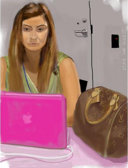 iPad Portrait of Amy Cagle