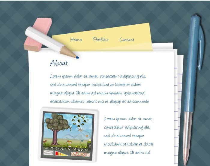 Desktop style web design