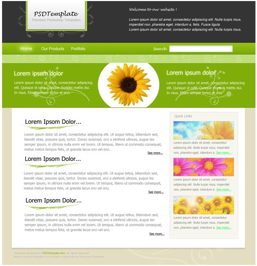 Flower,Ornamental,Agriculture Web Layout