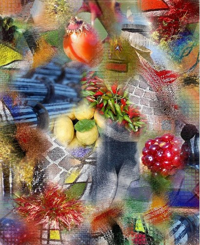 Digital fruite collage