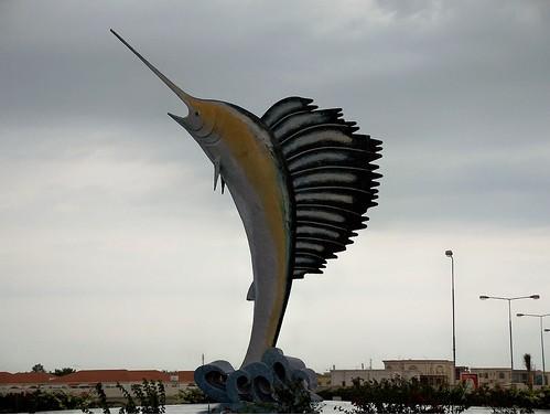 Fishy statue
