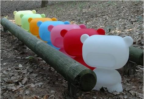 Colorful bears