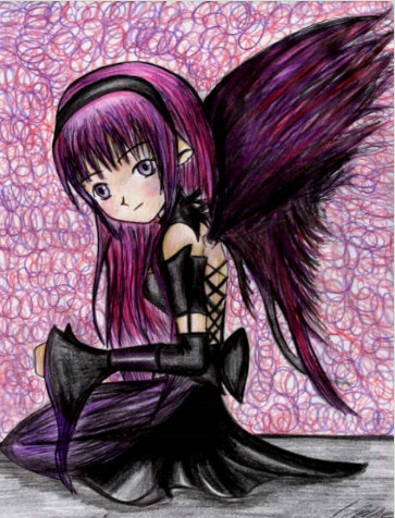 Emo anime angel