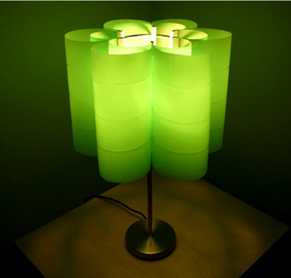 Decorative green lamp