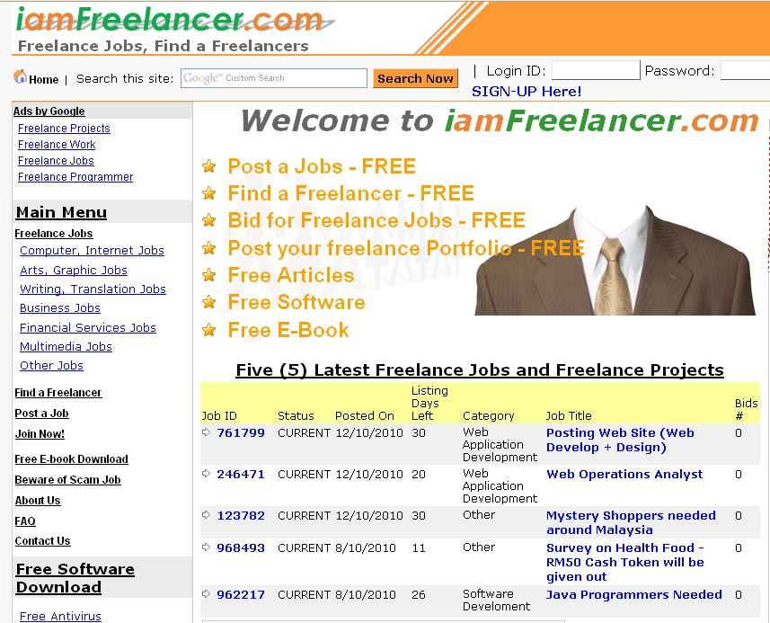 Freelance portal