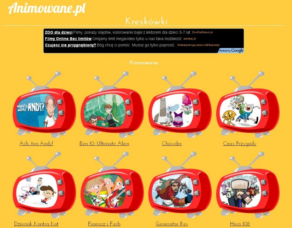 A website there you can rate various children's TV programs