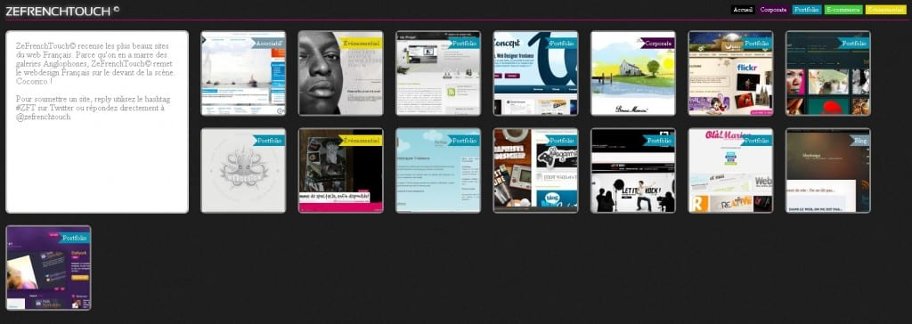 Web gallery of French web design