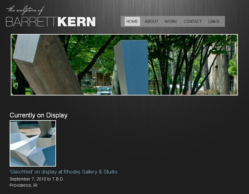 Online portfolio of sculptor Barrett Kern