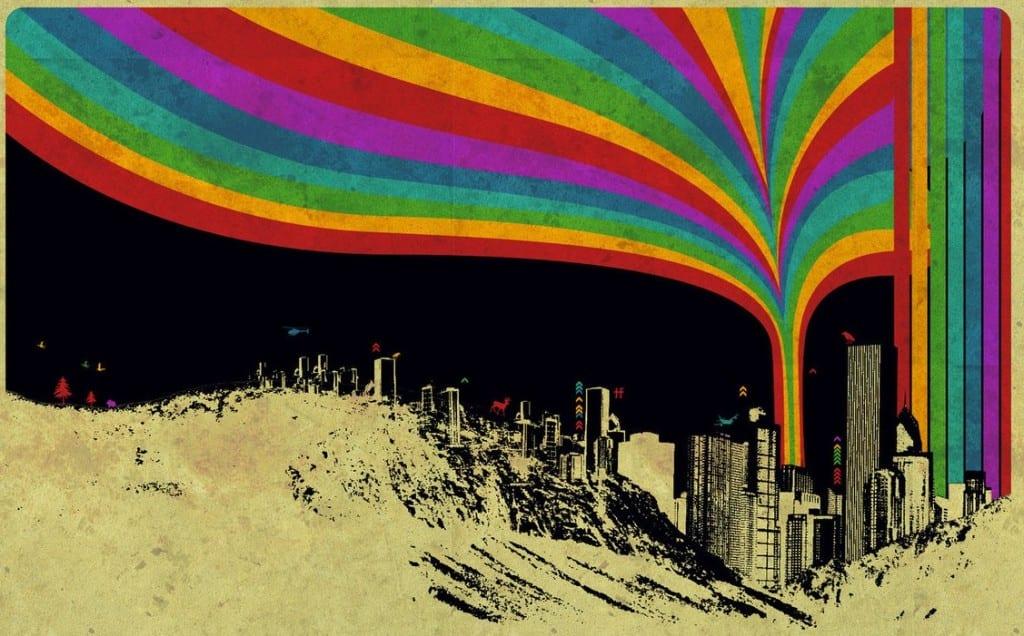 Colorful urban life