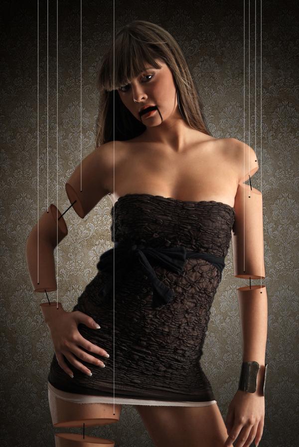 Woman photomanipulation by Ivan Kedmenec