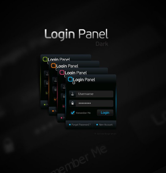 Dark login form