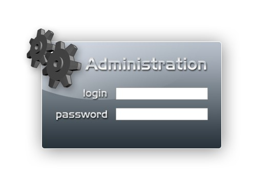 Dark grey admin login panel