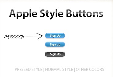 Apple style buttons