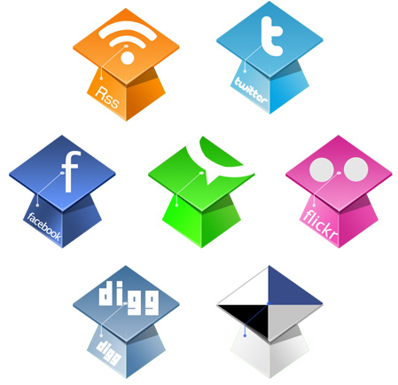 Graduation Hat Icons