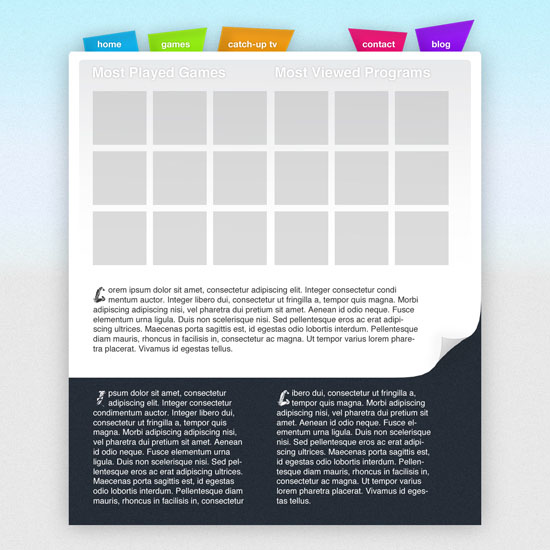 Kids Web Layout In Photoshop