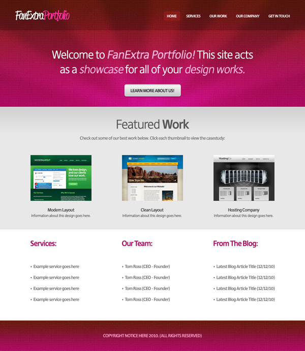 Design a Cool Textured Portfolio Website