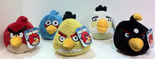 "Rovio Angry Birds 5"" Stuffed Animal Plush Toys"