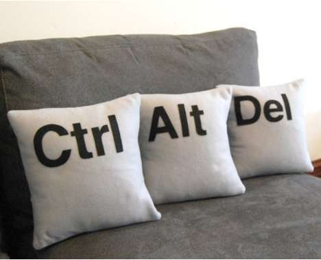 Geeky plush pillow