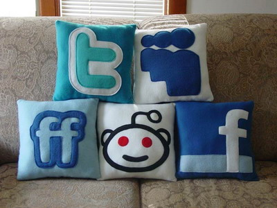 Social Media Icons Pillows