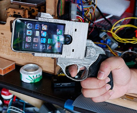 the iPhone revolver case