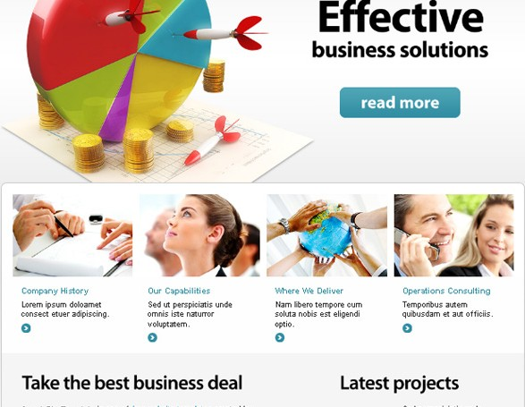 .  Business Website Template – Your Efficient Choice