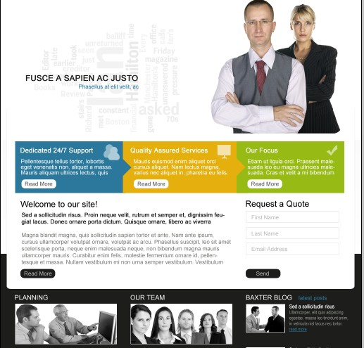 Baxter Website Template