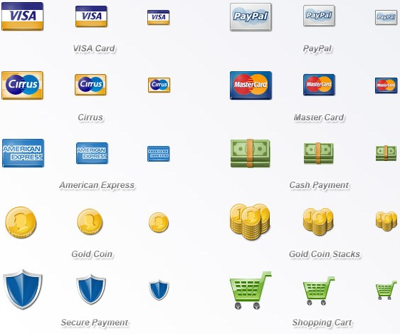 10 high quality Payment icons in PNG format