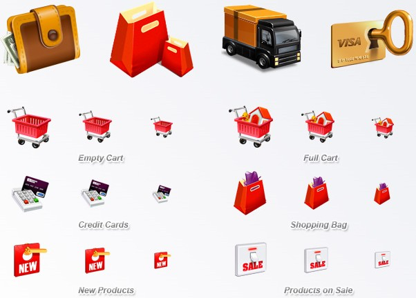 10 high quality E-Commerce icons