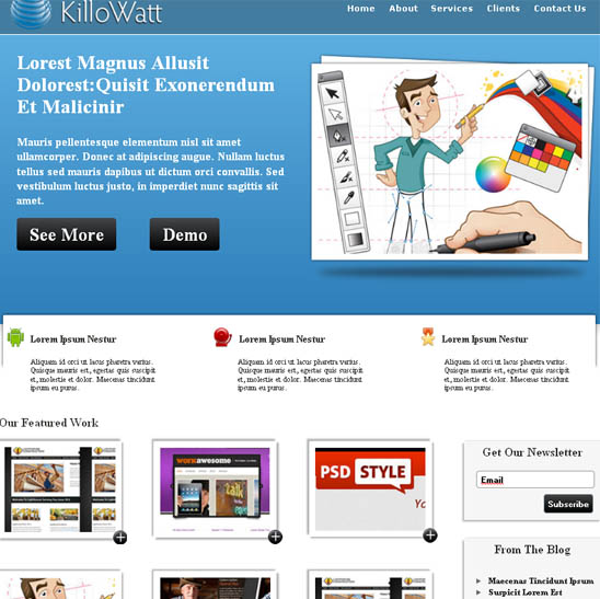Blue Business CSS/HTML