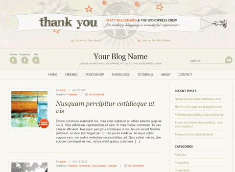 WordPress Anniversary Theme
