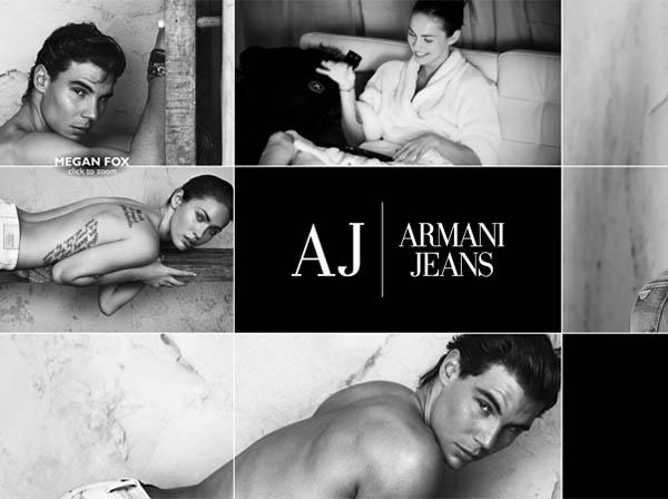 Armani Jeans website