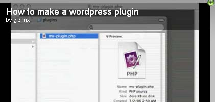How to make a wordpress plugin