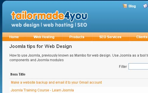 Joomla tips for Web Design