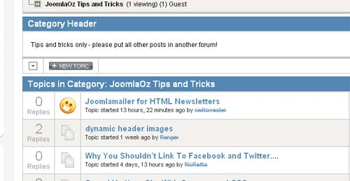 JoomlaOz Tips and Tricks
