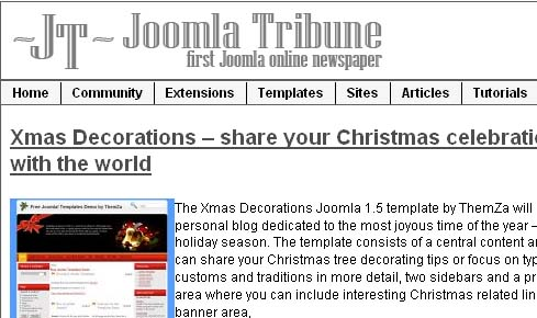 Joomla tribune