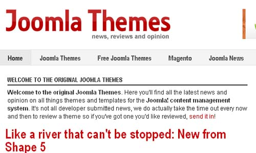 News about joomla themes.