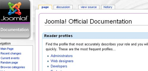 Joomla docs