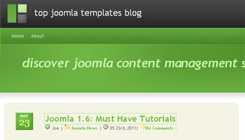 Top Joomla templates blog