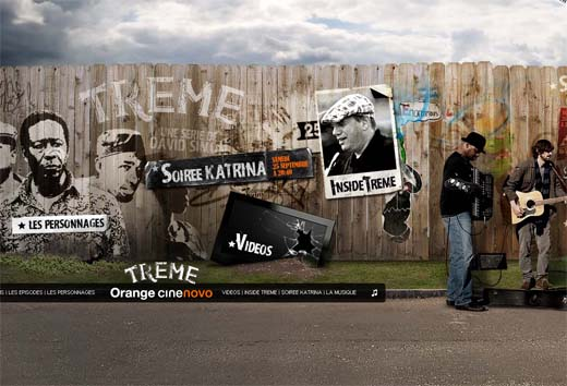 Promotion website of HBO serie Treme for France