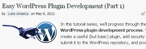 Easy WordPress Plugin Development