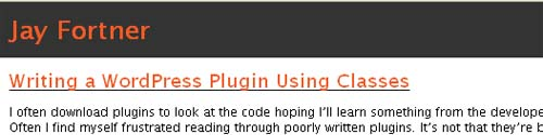 Writing a WordPress Plugin Using Classes